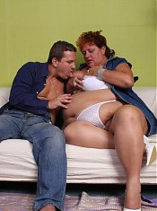 Chubby mature Sherry feasts on a cock and later got extremely fucked and showered with cum