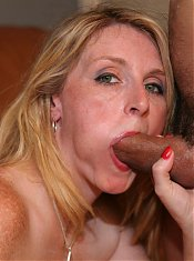 Mature housewife Ashley Anderson gives her stud a nasty blowjob and gets extremely screwed
