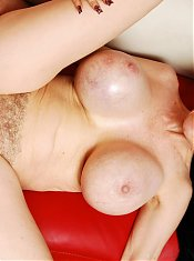 Sofia Stacks unleashes her pair of massive titties while riding a cock during a cam show